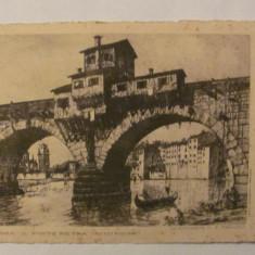 """CY - Ilustrata VERONA """"Podul Pietra"""" veche necirculata acvaforte Italia"""