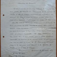 Scrisoare a lui Alexandru Ghika catre Dimitrie Sturdza, 1896