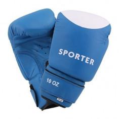 Manusi pentru competitii-Sporter (GS-910Blue/W) - Manusi box