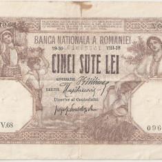ROMANIA 500 LEI 1918 AF - Bancnota romaneasca