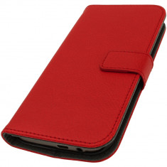 Husa Htc M8 Flip Portofel - Husa Telefon HTC, Rosu