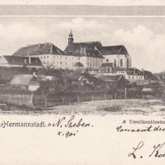 SALUTARI DIN SIBIU, MANASTIREA URSULINELOR, CIRCULATA OKT.''901 - Carte Postala Transilvania pana la 1904, Printata