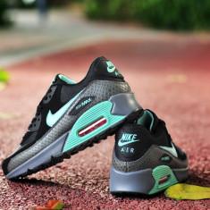 Nike AIR MAX AIRMAX 90 Gri-Turcoaz - Adidasi barbati, Marime: 37, Culoare: Din imagine