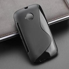 Husa Motorola Moto E2 XT1524 TPU S-LINE Black - Husa Telefon Motorola, Negru, Gel TPU, Fara snur, Carcasa