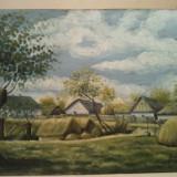 Pictura Peisaj rustic 1949 - semnata - Lichidare colectie, Peisaje, Ulei, Realism