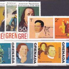 Bicentenar SUA, Grenada. - Timbre straine, Nestampilat