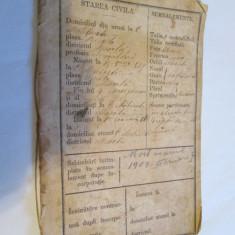 RARISIM!LIVRET MILITAR PRINCIPATELE UNITE 1859-1862 GUVERN I.GHICA 1861/A.I.CUZA - Pasaport/Document