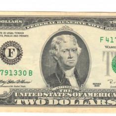 SV * SUA / Statele Unite TWO DOLLARS / 2 DOLARI 1995 AUNC+ / UNC - bancnota america