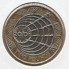 Marea Britanie 2 Pounds 2001 -Marconi Telegraph, K70, 28.4 mm KM-1014, Europa