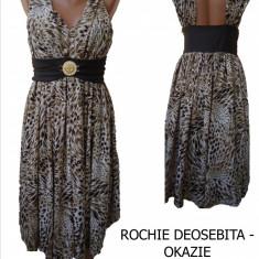 ROCHIE DEOSEBITA -OKAZII SPECIALE, LIVRARE GRATUITA - Rochie de seara, Marime: 38, 40, Culoare: Din imagine, Midi, Cu bretele, Matase