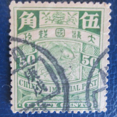 TIMBRE CHINA USED 1898-1902, Stampilat