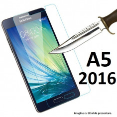 FOLIE de sticla Samsung Galaxy A5 2016 0.33mm, 9H tempered glass, HUSA - Folie de protectie Samsung, Anti zgariere