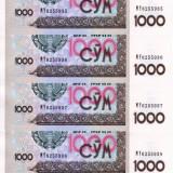 UZBEKISTAN lot 5 buc. X 1.000 sum 2001 UNC!!! - bancnota asia