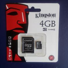 Card Memorie Micro-sd 4GB Kingston Class 4 Nou Sigilat - Card Micro SD