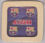 Suport de pahar din lemn , FC Barcelona