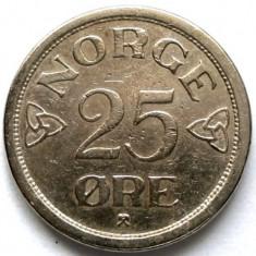 RAR ! Norvegia Haakon VII (1930-1957) 25 Ore 1954, Europa, Crom
