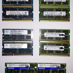 Memorie laptop SODIMM 4GB DDR3 1333 Mhz PC3 10600 (1x4Gb) TESTATA