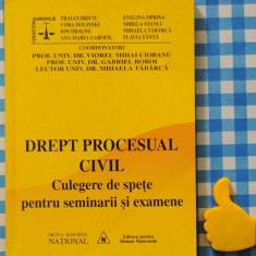 Drept procesual civil culegere de spete pentru seminarii si examene - Carte Drept procesual civil