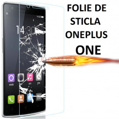 FOLIE de sticla OnePlus One 0.33mm, 2.5D, 9H tempered glass protectie - Folie de protectie OnePlus, Anti zgariere