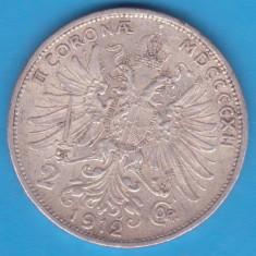 (3) MONEDA DIN ARGINT AUSTRIA - 2 CORONA 1912, FRANZ JOSEPH, Europa