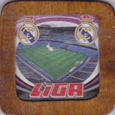 Suport de pahar din lemn, Real Madrid