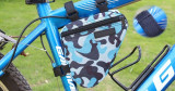 Portbagaj bicicleta geanta model army cadru bicicleta spatiu depozitare, Coburi si genti