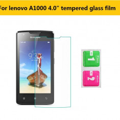 FOLIE de STICLA securizata LENOVO A1000, 0.33mm, 2.5D, 9H tempered glass - Folie de protectie Lenovo, Anti zgariere