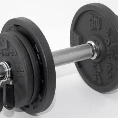 Gantera reglabila 10 kg - ax si discuri metalice - ax de 30 mm - NOUA, Gantere