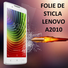 FOLIE de STICLA securizata LENOVO A2010, 0.33mm, 2.5D, 9H tempered glass - Folie de protectie