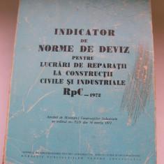 INDICATOR DE NORME DE DEVIZ - Carti Constructii