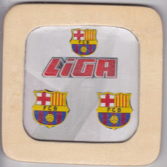 Suport de pahar din lemn, FC Barcelona