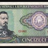 1. ROMANIA, 50 LEI 1966, AUNC - Bancnota romaneasca