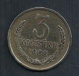 RUSIA URSS 3 COPEICI KOPEICI KOPEIKI 1968  [1]  livrare in cartonas, Europa, Cupru (arama)