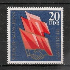 D.D.R.1977 Congresul Sindicatelor Berlin CD.1067 - Timbre straine, Nestampilat