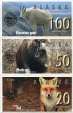 ALASKA- 20-50-100 DOLLARS 2016- UNC!!
