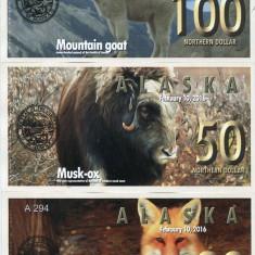 ALASKA- 20-50-100 DOLLARS 2016- UNC!! - bancnota america