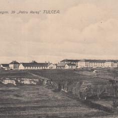 DOBROGEA, TULCEA, CAZARMA REGIMENTULUI 39 ''PETRU RARES'' - Carte Postala Dobrogea dupa 1918, Necirculata, Printata