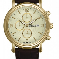 Ceas Adriatica barbatesc cod A1194.1251CH (Swiss Made) - 1419 lei (original) - Ceas barbatesc Adriatica, Elegant, Quartz, Inox, Piele, Cronograf