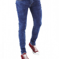 Blugi tip Zara fashion - blugi barbati blugi slimfit blugi conici - cod 6205, Marime: 30, Culoare: Din imagine