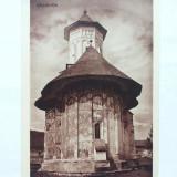 BUCOVINA-MANASTIREA MOLDOVITA-2 IMAGINI DIN PLIANT SUVENIR ANII 40 - Carte postala tematica, Necirculata, Printata