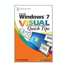 Windows 7 Visual Quick Tips - Carte in engleza
