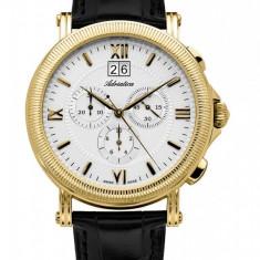 Ceas Adriatica barbatesc cod A8135.1263CH (Swiss Made) - 1179 lei (original) - Ceas barbatesc Adriatica, Elegant, Quartz, Inox, Piele, Cronograf