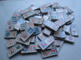 115 Piese joc tip Domino cu semne de circulatie , fabricat in Romania ,  vechi