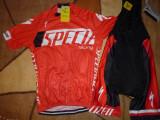echipament ciclism complet Specialized rosu Racing set pantaloni tricou NOU