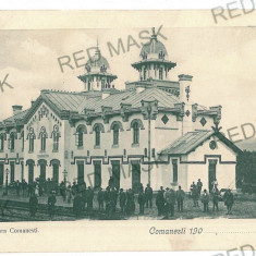 2758 - Bacau, COMANESTI, Railway Station - old postcard - used - 1910, Circulata, Printata