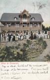 ROMANIA FOLCLOR COSTUME TRADITIONALE JOCURI POPULARE HORA LA COMARNIC 1906 UPU, Circulata, Printata