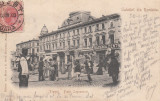 PLOIESTI  PIATA  LEGUMELOR  MAGAZINE  BACANIA  CENTRALA  CLASICA  TCV  CIRC.1903, Circulata, Printata