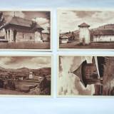 BUCOVINA-MANASTIREA HUMOR-LOT DE 4 IMAGINI DIN PLIANT SUVENIR ANII 40 - Carte postala tematica, Necirculata, Printata