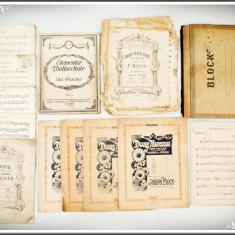 BLOC CU 12 PARTITURI MUZICALE AUSTRO-UNGARE VECHI DIN ANII 1900, JOSEPH BLOCH! - Partitura