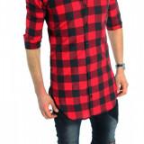 Camasa tip Zara lunga  - camasa carouri - camasa barbati - cod produs: 6186